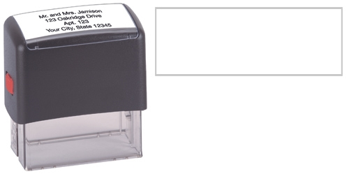 4-Line Self-Inking Stamp - Black