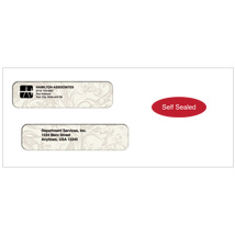 Self Seal Double Window Envelopes