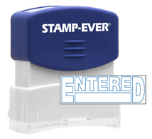 Stock Title Stamp - Entered