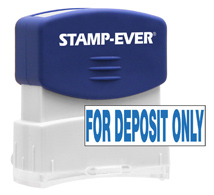 Stock Title Stamp - For Deposit Only